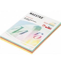 Spalvotas popierius Maestro Color Mix 5x50 intensyvios