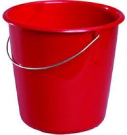 Plastikinis kibiras raudonas 10L