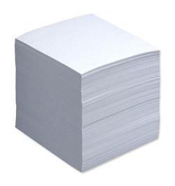 Užrašų lapeliai 90x90 balti klijuoti 500lp