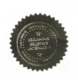 Reljefinio antspaudo lipdukas 51mm sidabro sp