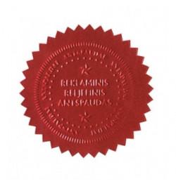 Reljefinio antspaudo lipdukas 51mm raudonos sp