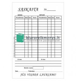 Baro sąskaita A6 (su virtuvės st.)