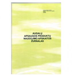 Augalų apsaugos produktų naudojimo apskaitos žurnalas