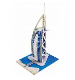 Medinė dėlionė su spalvotu popierium Viešbutis Dubajus