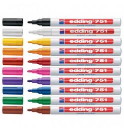 Aliejinis markeris Edding 751 1-2mm raudonas