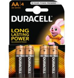 Elementai Duracell R6 AA 1.5V 4vnt
