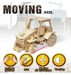 Medinė 3D dėlionė Traktorius V420