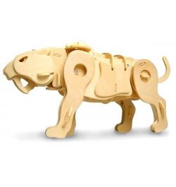 Medinė 3D dėlionė Zobenzobu tigras A410