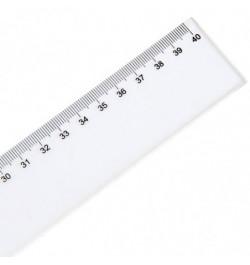 Liniuotė Deli 6240 40cm plastikinė skaidri