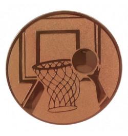 Viduriukas medaliui 25mm krepšinis A8 bronzos sp.