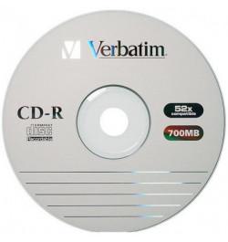 Skaitmeniniai diskai Verbatim CD-R 700MB be dėž