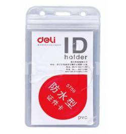 Dėklas Deli 5759 ID kortelei 91x56mm vertikalus