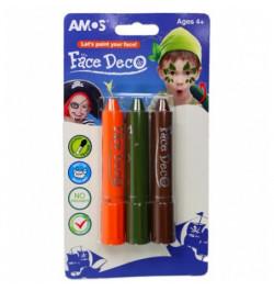 Veido dažų rinkinys Amos 3sp