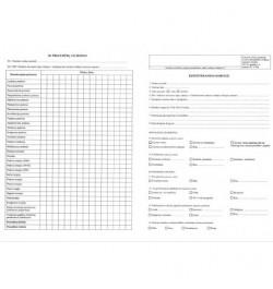 Gydomosios kūno kultūros kabineto paciento kortelė 400vnt