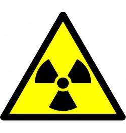 Lipdukas Radiacijos pavojus 15x15cm
