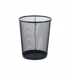 Šiukšlių dėžė perforuoto metalo juoda