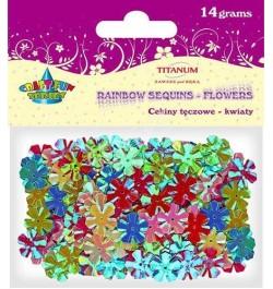 Dekoracija blizgučiai Titanum gėlės 14g