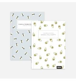 Užrašų knyga Bees & Avocados taškuota
