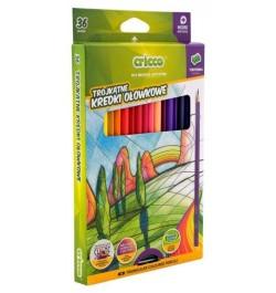 Spalvoti pieštukai Cricco CR322K36 tribriauniai 36