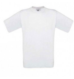 Marškinėliai B&C Exact 150 L balti