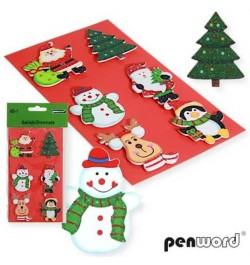 Dekoracija Penword Kalėdiniai lipdukai 6vnt