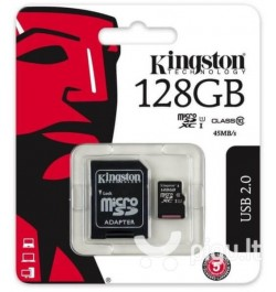 Atminties kortelė Kingston MicroSDXC 128GB