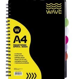 Sąsiuvinis Wave A4 su...