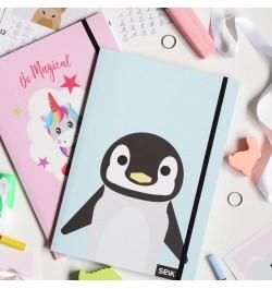 Užrašų knyga Be magical unicorn & penguin taškuota 2vnt